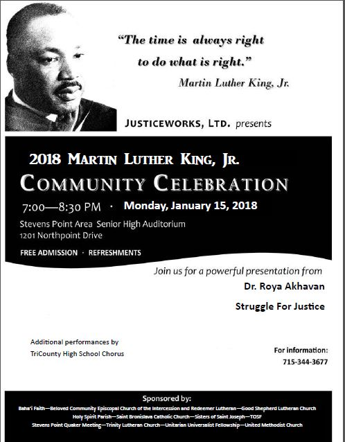 here is the text of the closing prayer delivered by dr roya akhavan at the 2018 martin luther king jr community celebration